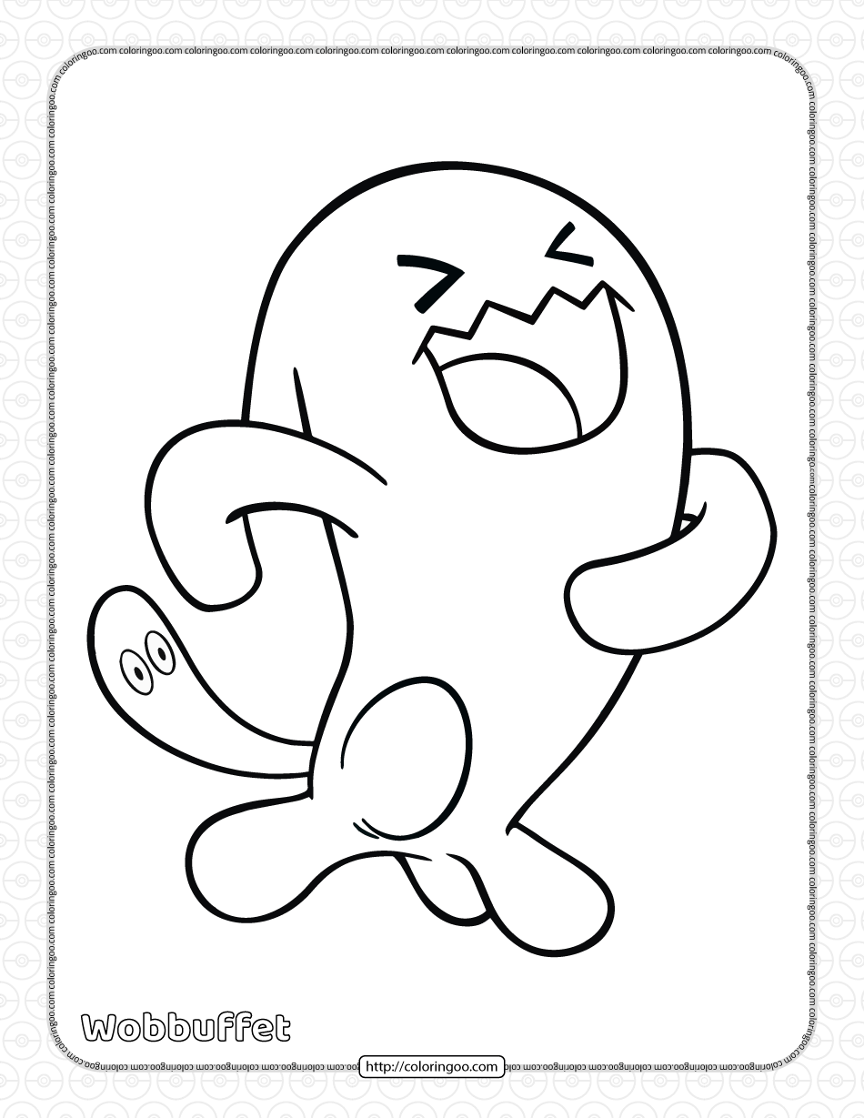 Pokemon Wobbuffet Coloring Pages