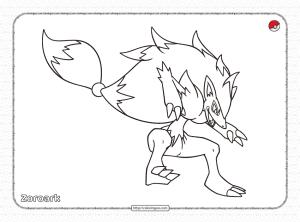 Pokemon Zoroark Coloring Pages