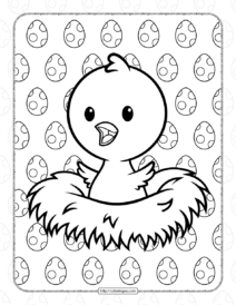 Printable Baby Chick Coloring Pages