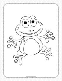 Printable Cartoon Frog Coloring Pages