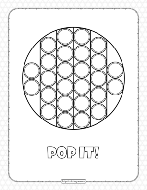 Circle Shaped Pop It Coloring Pages