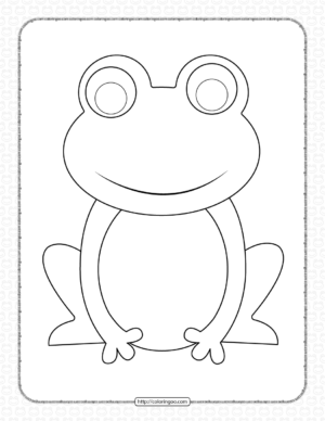 Printable Frog Coloring Pages