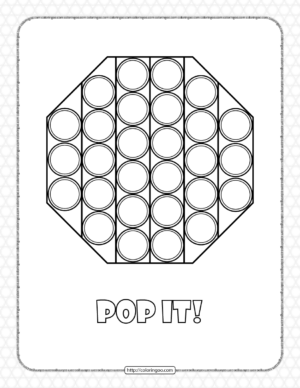 Octagon Shaped Pop It Coloring Pages