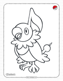 Printable Pokemon Chatot Coloring Pages