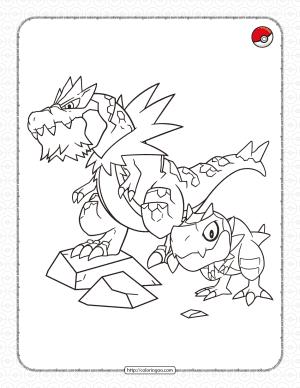 Rock-type Pokemon Pdf Coloring Page
