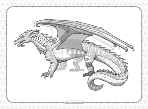 SeaWings Dragon from Wings of Fire Coloring Page