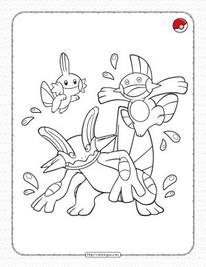 Water-type Pokemon Pdf Coloring Page