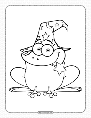 Wizard Frog Coloring Pages