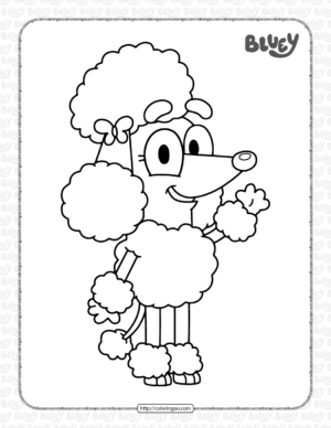 Bluey Coco Coloring Pages