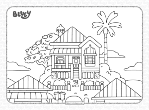 Bluey Heelers House Coloring Pages