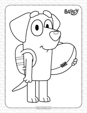 Bluey Lucky Coloring Pages