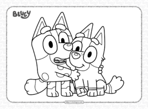 Bluey Muffin and Socks Coloring Pages