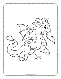 Dragon Coloring Pages for Girls