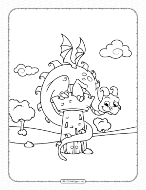 Guardian Dragon Coloring Pages