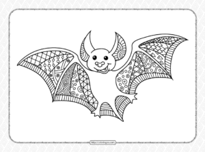 Halloween Bat Coloring Pages for Adults