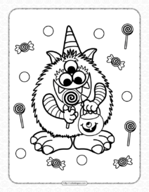 Halloween Candy Critter Coloring Pages