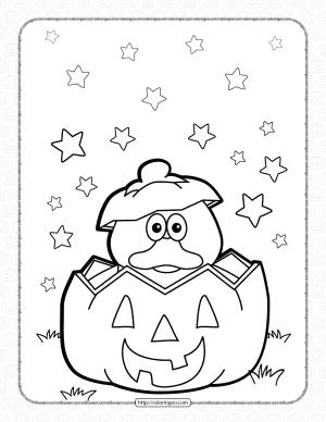 Halloween Duck Pumpkin Coloring Pages