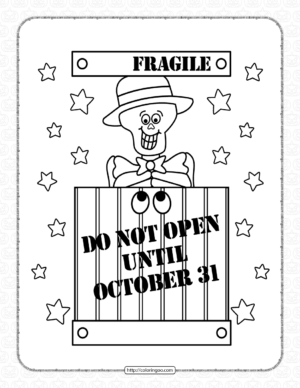 Halloween Fragile Coloring Pages