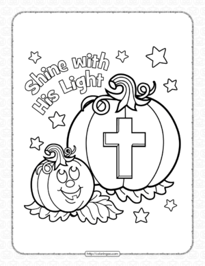 Halloween Shine His Light Coloring Page