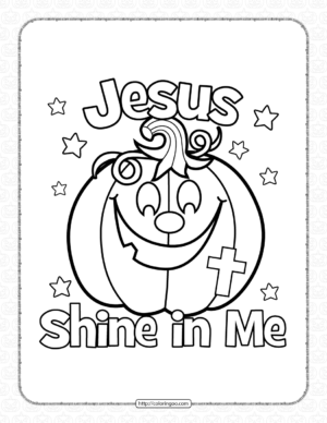 Halloween Shine In Me Coloring Page