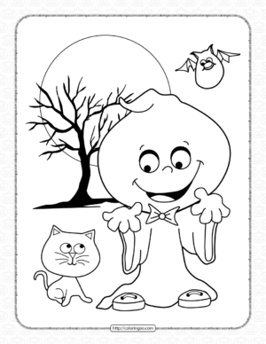 Halloween Silly Coloring Page