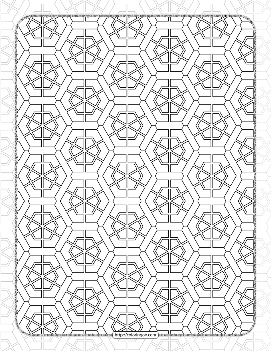 Hexagon Shapes and Patterns for Coloring