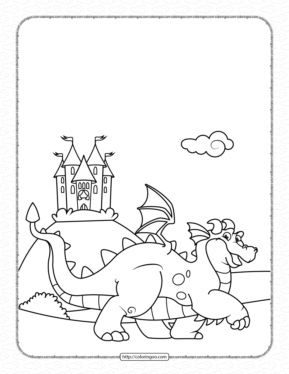 King Dragon Pdf Coloring Pages