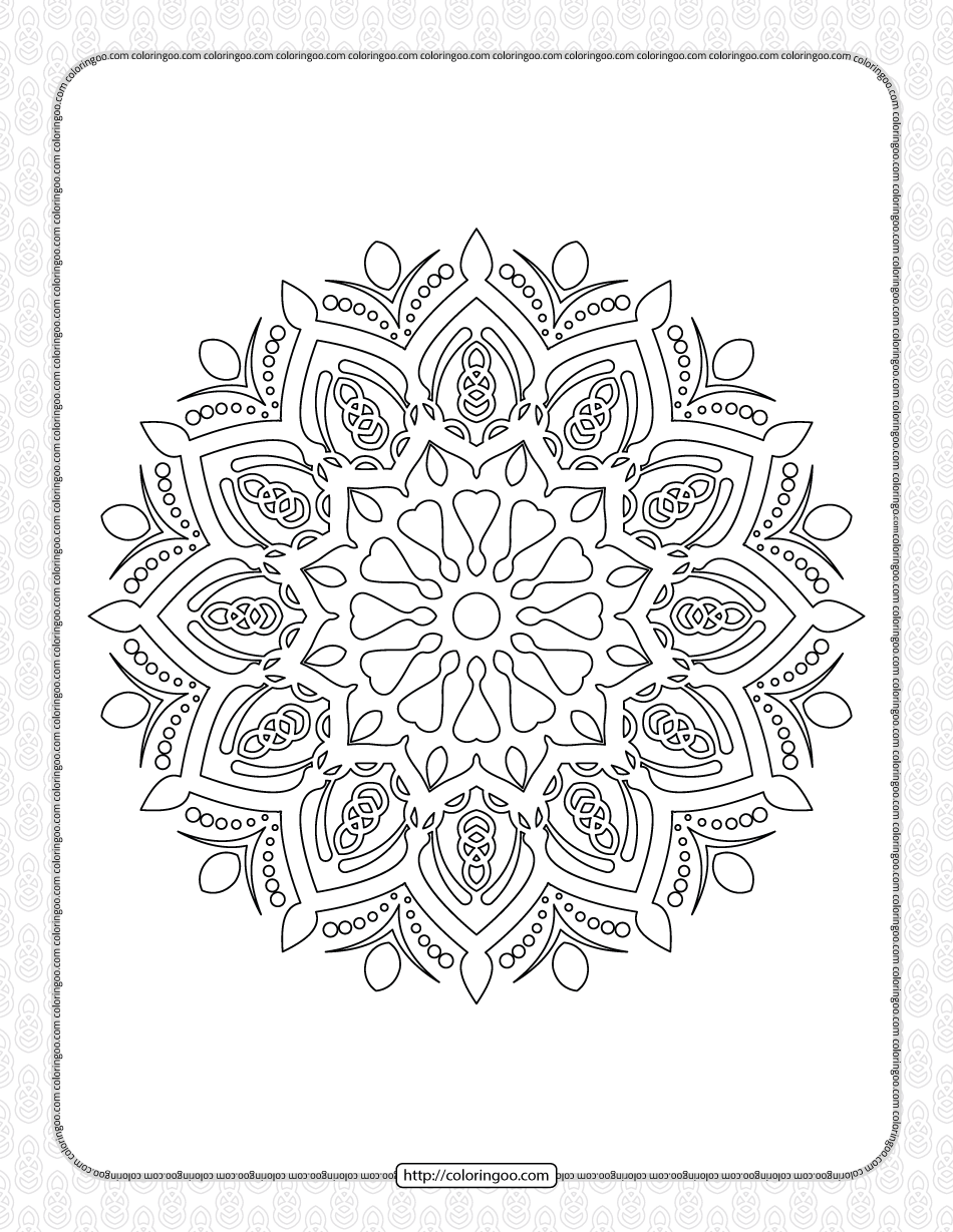 Luxury Mandala Coloring Pages for Adults