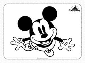 Mickey Mouse Look Up Coloring Pages