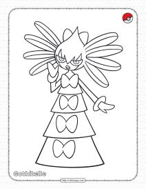 Pokemon Gothitelle Coloring Pages