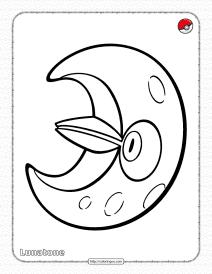 Pokemon Lunatone Coloring Pages