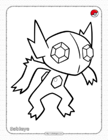 Pokemon Sableye Coloring Pages