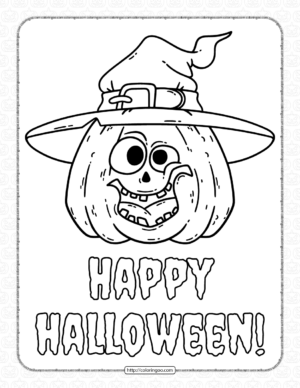 Silly pumpkin Halloween Coloring Pages