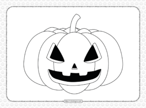 Simple Halloween Pumpkin Coloring Page for Kids