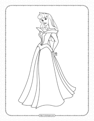 Sleeping Beauty Coloring Pages for Girls