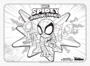 Spidey and His Amazing Friends Coloring Pages