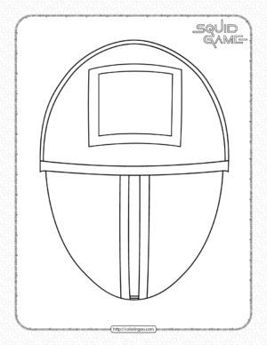 Squid Game Square Mask Coloring Page