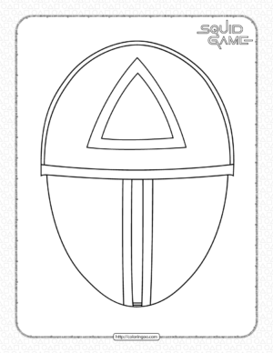 Squid Game Triangle Mask Coloring Page